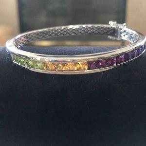 ⭐️SALE! Multi Gemstone 🌈 Sterling Silver Bracelet